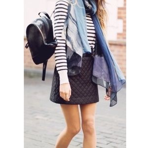 Topshop Faux Leather Quilted Skirt